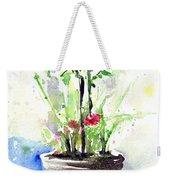 Flowers By The Pool Weekender Tote Bag