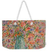 Flowers In Crystal Vase. Weekender Tote Bag