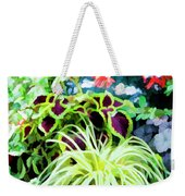 Flowers In Garden 3 Weekender Tote Bag