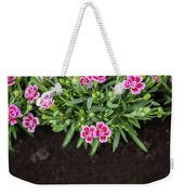 Flowers In Grass Growing From Natural Clean Soil Weekender Tote Bag