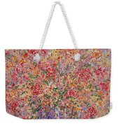 Flowers In Purple Vase. Weekender Tote Bag