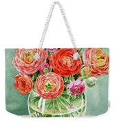 Flowers In The Glass Vase Weekender Tote Bag