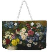 Flowers In Three Vases 1879 Weekender Tote Bag