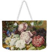 Flowers On A Ledge Weekender Tote Bag