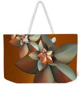 Flowers On Bronze Weekender Tote Bag