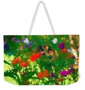 Flowers On Display As Abstract Art Weekender Tote Bag