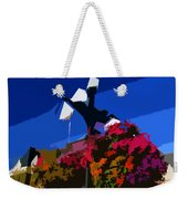 Flowers On Lamppost Weekender Tote Bag