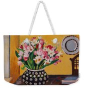 Flowers On The Desk Weekender Tote Bag