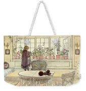 Flowers On The Windowsill Weekender Tote Bag by Carl Larsson