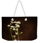 Flowers On Wood Weekender Tote Bag