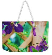 Flowers Purple Weekender Tote Bag