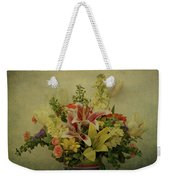 Flowers Weekender Tote Bag by Sandy Keeton