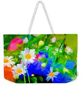Flowers Two Weekender Tote Bag