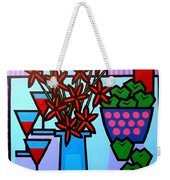 Flowers Wine Apples Weekender Tote Bag