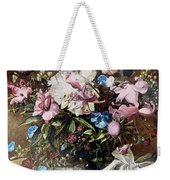 Flowers With A Bird Weekender Tote Bag