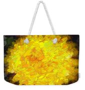 Flowery Acceptance In Abstract Weekender Tote Bag