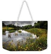 Flowery Lake Weekender Tote Bag by Carlos Caetano