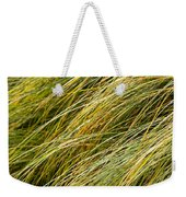 Flowing Green Grass  Abstract Weekender Tote Bag