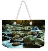 Flowing River On Greenbrier Cove Road Smoky Mountains National P Weekender Tote Bag