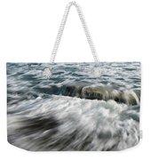 Flowing Sea Waves Weekender Tote Bag