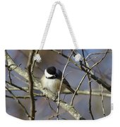 Fluffy Chickadee Weekender Tote Bag