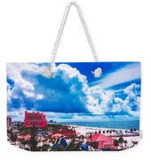 Fluffy Clouds Over Clearwater Beach Weekender Tote Bag