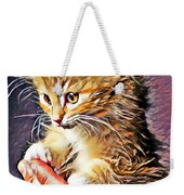 Fluffy Orange Kitten Weekender Tote Bag