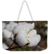 Fluffy White Alabama Cotton Weekender Tote Bag