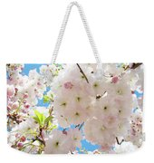 Fluffy White Pink Sunlit Tree Blossom Art Print Canvas Baslee Troutman Weekender Tote Bag