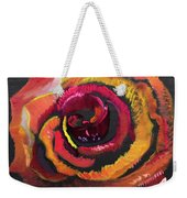 Fluorescent Rose Weekender Tote Bag