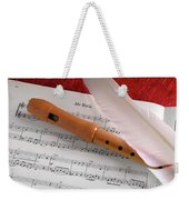 Flute And Feather Weekender Tote Bag by Carlos Caetano