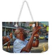 Flute Musician In New Orleans Weekender Tote Bag