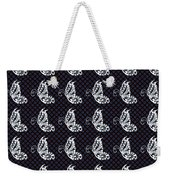 Fluttering Butterflies - Navy And White Weekender Tote Bag