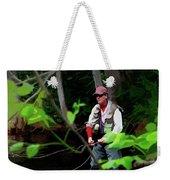 Fly Fisher Weekender Tote Bag