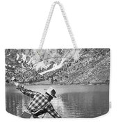 Fly Fishing In A Mountain Lake Weekender Tote Bag