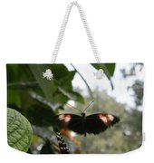 Fly Free - Black, Orange, White Butterfly Weekender Tote Bag