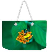 Fly On Flower Weekender Tote Bag