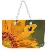 Fly On Sunflower Weekender Tote Bag
