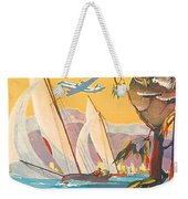 Fly To Australia And New Zealand, Airline Poster Weekender Tote Bag