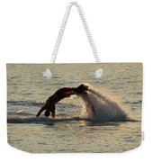 Flyboarder Diving In Up To His Arms Weekender Tote Bag