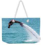 Flyboarder In Red Followed By Water Jet Weekender Tote Bag