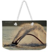 Flyboarder Only Showing Feet After Semi-circular Dive Weekender Tote Bag