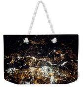 Flying At Night Over Cities Below Weekender Tote Bag