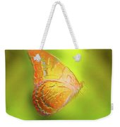 Flying Butterfly On Decorative Background, Graphic Design. Weekender Tote Bag