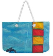 Flying Dolphin Weekender Tote Bag