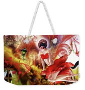 Flying Flower.. Eve Weekender Tote Bag