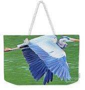 Flying Great Blue Heron Weekender Tote Bag