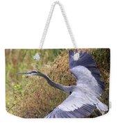 Flying Great Blue Heron Weekender Tote Bag