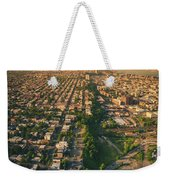 Flying Over Jersey City Weekender Tote Bag