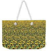 Flying Over Sunflower Fields Weekender Tote Bag